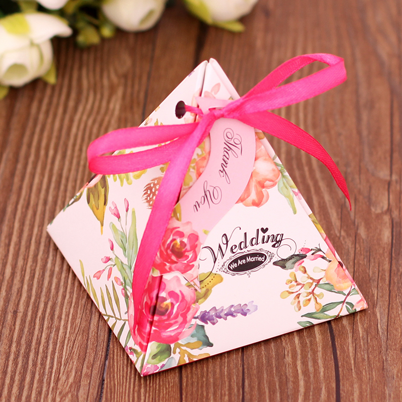 100pcs/lot Wedding Candy Boxes Wedding Favor Box Chocolate