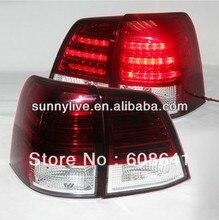 08-12 Land Cruiser FJ200 LC200 LED Tail Lamp Red White SN Style
