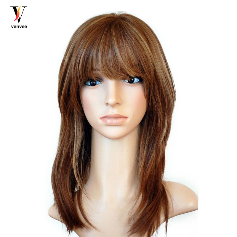 Full Lace Front Human Hair Wigs Jewish Wig Plucked Pre
