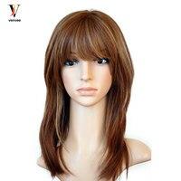 Full Lace Front Human Hair Wigs Jewish Wig Plucked Pre European Virgin Hair re Colored Wig Full End Venvee Hair