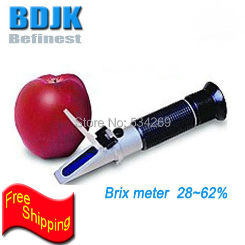 28~62% Portable Pen Brix Meters Handheld Sugar Refractometer with Gift Box and Free Shipping 1h181 1