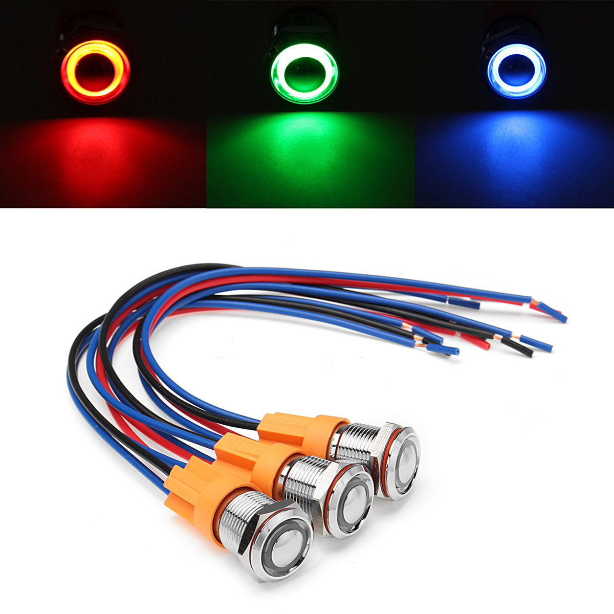Detail Feedback Questions About 12v 24v 4pin Self Locking Switch Wiring Setup For Blue Led 22mm Stainless Steel Momentary 12mm Metal On Off Push Button Harness Waterproof