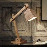 20*55 см простые современные Спальня тумбочка лампа складной деревянный Книги по искусству настольная лампа творческий теплые светодиодный