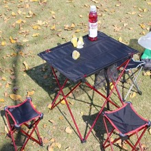 Outdoor Folding Ultra-light Aluminum Alloy Portable Camping Picnic Table