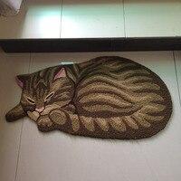 S V New Arrived Cute Sleeping Cat Carpet Carpet Child Bedroom Floor Mats Animal Design Area