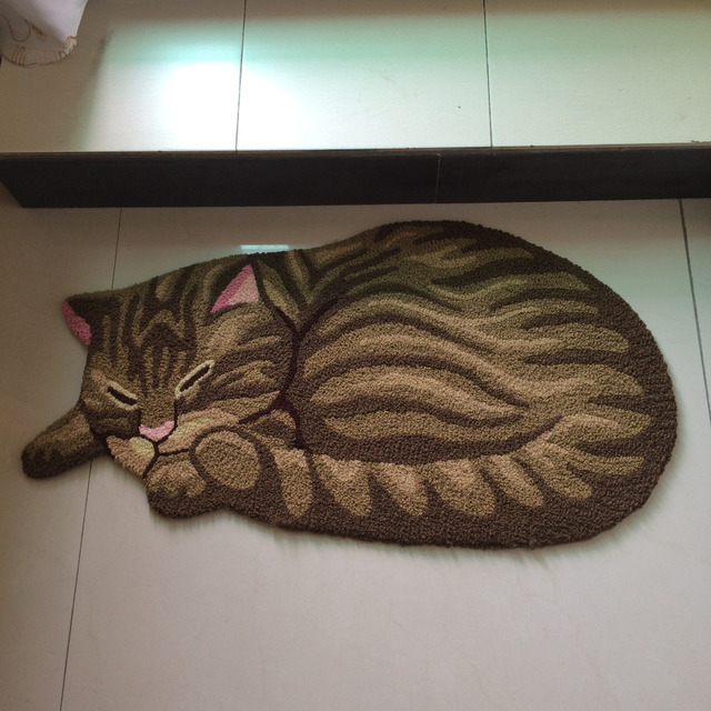 Creative Carpet Doormat For Entrence Door 3D Pet Cat Carpet Anti Slip Cat Door mat Outdoor Floor Mat Kid Room bedside Carpet