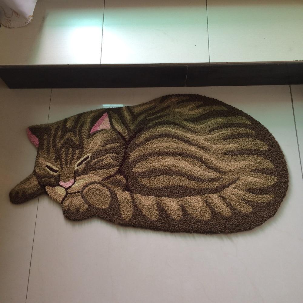 Kingart Sleeping Cat Carpets Kid Living Room Cartoon Floor Mats Bedroom Doormat And Bathroom Mat For