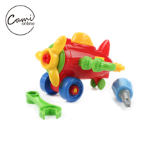 DIY Disassembling Small Car Plane Building Blocks Children Assembled Model Tool Clamp With Screwdriver Kids Educational Toys