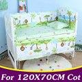 5 Pçs/set Algodão Conjunto Fundamento Do Bebê Para A Menina Meninos Berço Da Cama Conjunto Para 120x70 cm Berço Bumper Baby Crib Bumper CP02