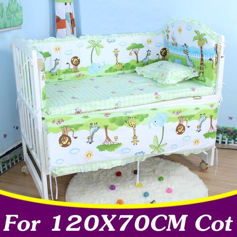 5pcs Set Cotton Baby Bedding Set For Girl Boys Crib