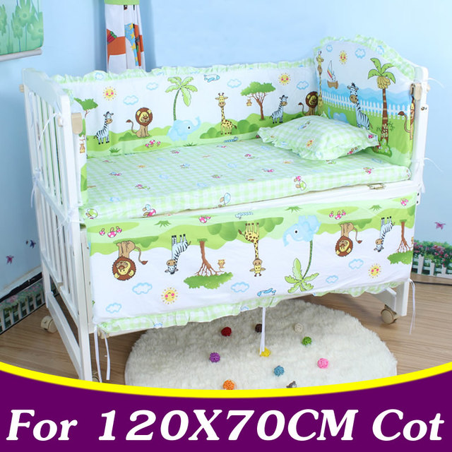 5PCS/set Cotton Baby Bedding Set For Girl Boys Crib Bedding Set For 120x70cm Baby Cot Bumper Baby Crib Bumper CP02
