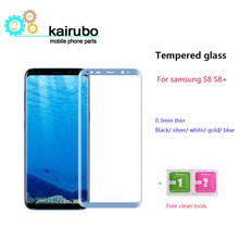 5pcs Full 3D Curved Tempered Glass Film For Samsung Galaxy S8 / Plus 9H Front Protective Screen Protector Coverage