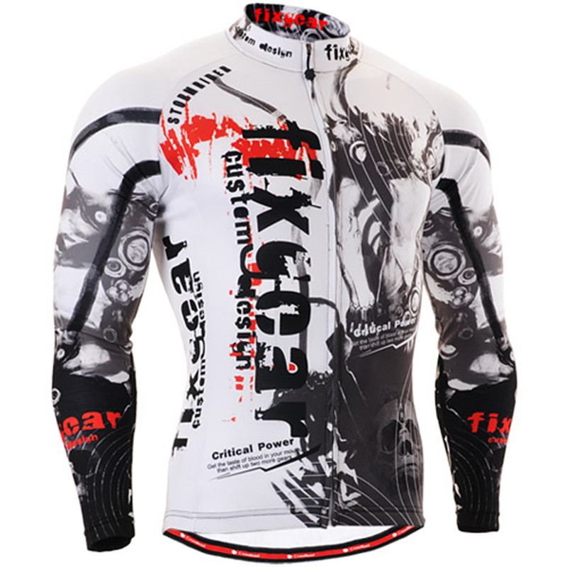 Mens Cycling Jerseys Bike Long Sleeve Clothings Bicycle Jerseys Breathable Quick Dry Mountain Bicycle Clothes Ropa