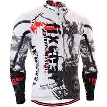 Mens Jerseys de Ciclo de la Bicicleta de Manga Larga Clothings Jerseys de Bicicletas Bicicleta de Montaña Ropa de Ciclismo Transpirable de Secado rápido