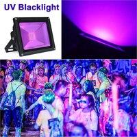 AC85 265V 10W 20W 30W 50W UV LED Flood light Outdoor IP65 Waterproof Ultra Violet Black Light Stage Light for DJ Disco Party Bar