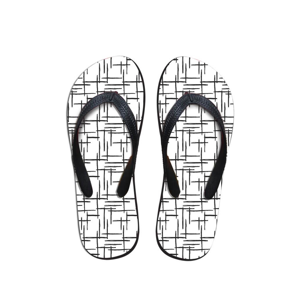 Simple Design Geometric Pattern Men's Flip Flops Beach Shoes Outside Sandals Flops Sandals Man Summer Daily Wear Flop