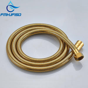 Stainless Steel 1.5m Flexible Shower Hose Bathroom Water Pipe Chrome Nickel Gold Black Soft Flexible Bathroom Water Pipe