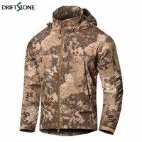 Lurker Shark Skin Military Jacket Men Softshell Waterproof Tactical Jackets Autumn Winter Camouflage Windproof Windbreaker Coat