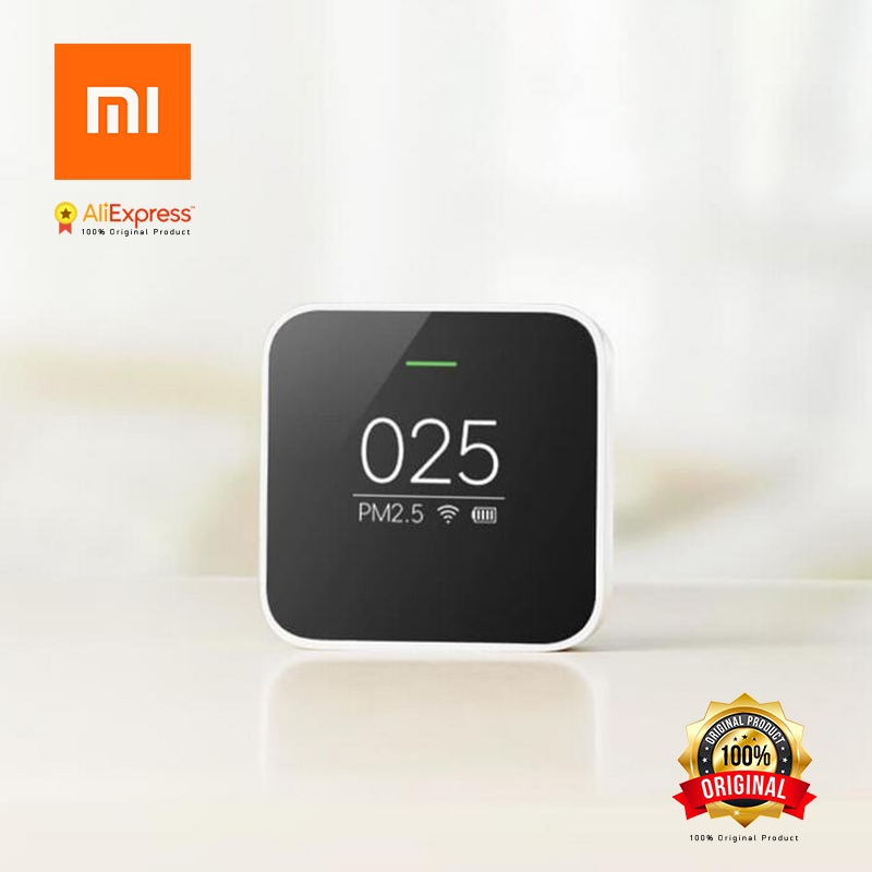 Original Xiaomi PM2.5 Detector Sensor Air Quality Monitoring High-precision Laser Sensor OLED Screen Using With Smart Home pm2 5 detector uni t ut25m high precision laser pm2 5 air quality detection sensor module super dust dust sensors 0 500ug cubi