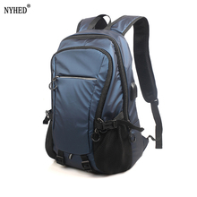 NYHED Waterproof 15.6inch Laptop Backpack Men Backpacks With USB Charging Travel Teenage bag male bagpack mochila