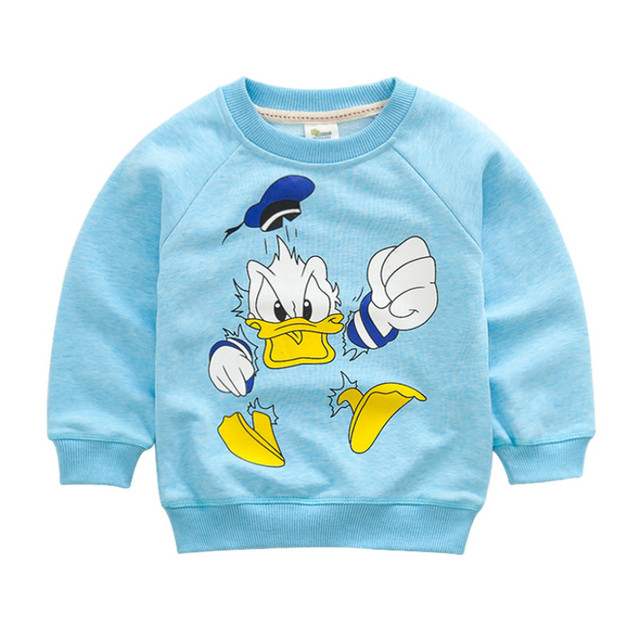 2017 New Children's Clothes Long-Sleeve cartoon O-Neck Hoodie unisex kids cotton Sweatshirt For Spring and Autumn tops 100-125cm