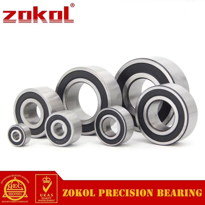 ZOKOL bearing 5220 2RS 3220 2RZ (3056220) Axial Angular Contact Ball Bearing 100*180*60.3mm