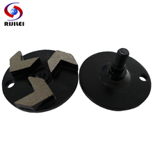 RIJILEI 35*20*10mm*3T Diamond Grinding Disc With 3 segment for Concrete Floor Polishing Tools marble Abrasive W60