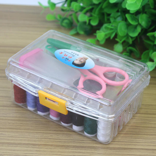 Charmant Needle Thread Spool Tape Measure Scissor Storage Box Sewing Kit Home DIY  Tool
