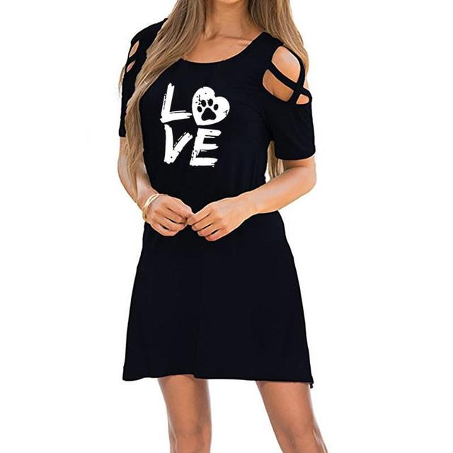 Puppy Love – Dog Paw Print Dress