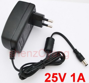 1PCS High quality DC 25V 1A IC program AC 100V-240VConverter Switching power adapter 1000mA Supply EU Plug DC 5.5mm x 2.1-2.5mm