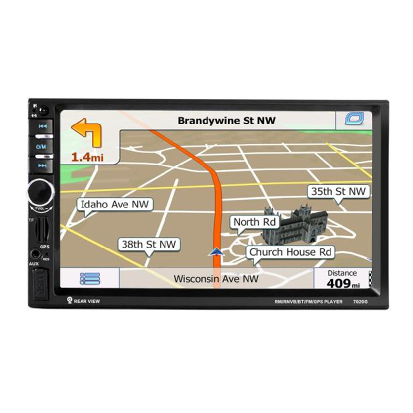 Franchise 7 HD Bluetooth Touch Screen Car GPS Stereo Radio 2 DIN FM/MP5/MP3/USB/AUX Support TF card view cameraFranchise 7 HD Bluetooth Touch Screen Car GPS Stereo Radio 2 DIN FM/MP5/MP3/USB/AUX Support TF card view camera