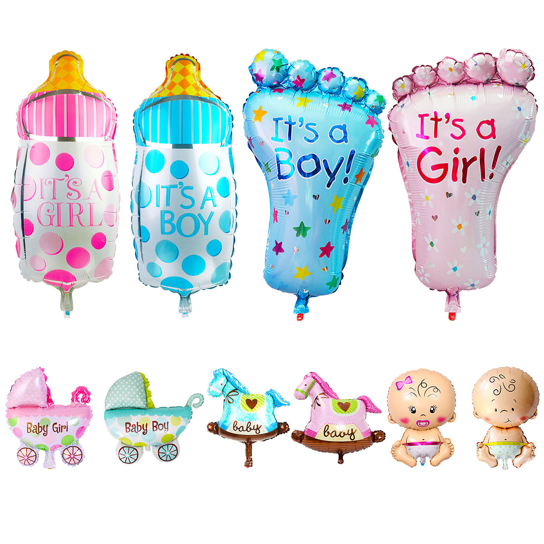 5Pcs//Set Baby Shower Foil Christening Balloons Decoration Kids Party Supply