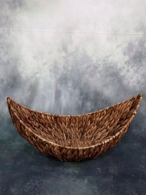 New style baby photography studio props one hundred days photo basket newborn natural pampasgrass moon boat
