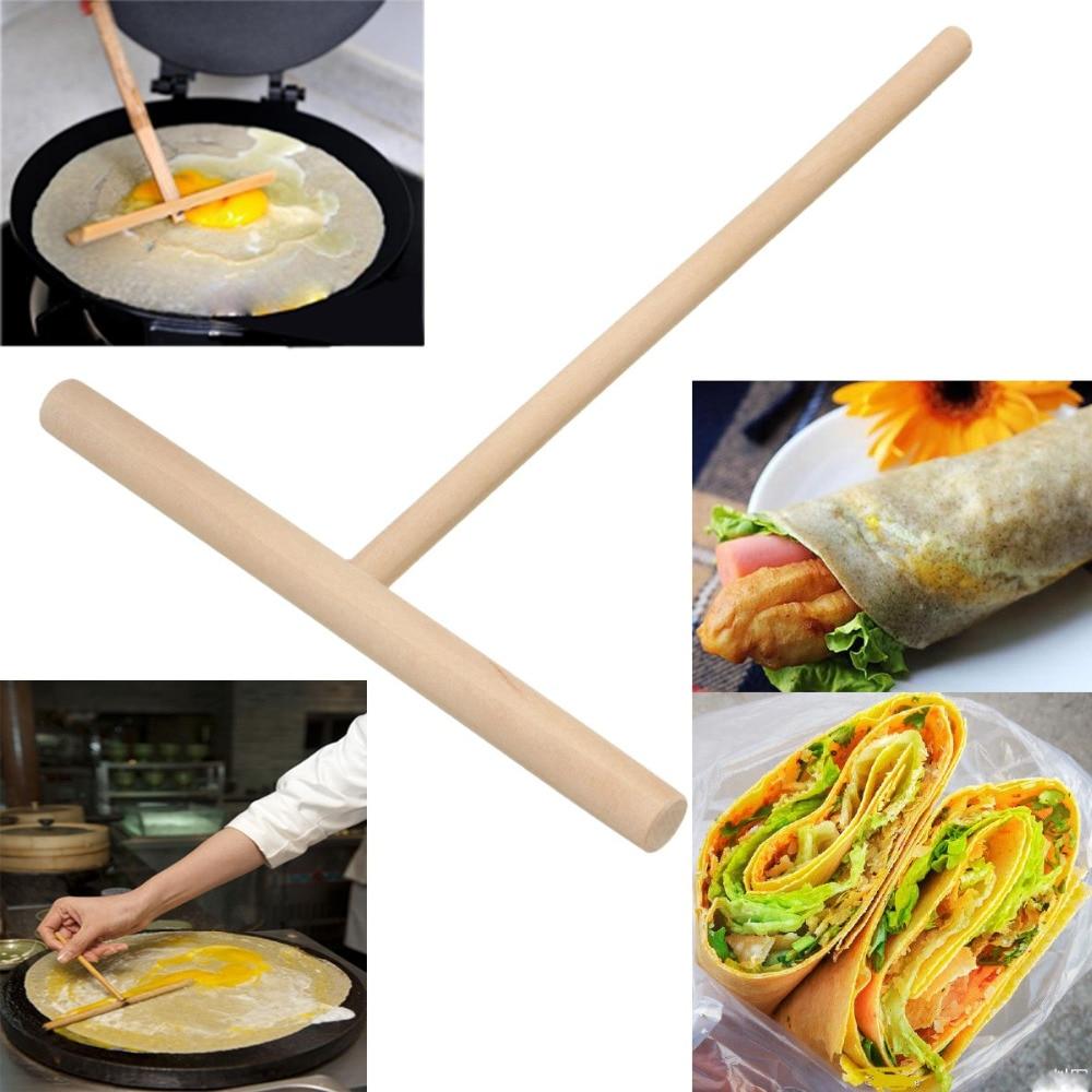 Fashion 1x 5\'\' Crepe Maker Pancake Batter Wooden Spreader Stick Home ...