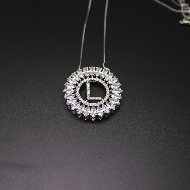 Letter l pendant necklace with aaa cubic zirconia white gold letter l pendant necklace with aaa cubic zirconia white gold plated fashion jewerly for women mozeypictures Choice Image