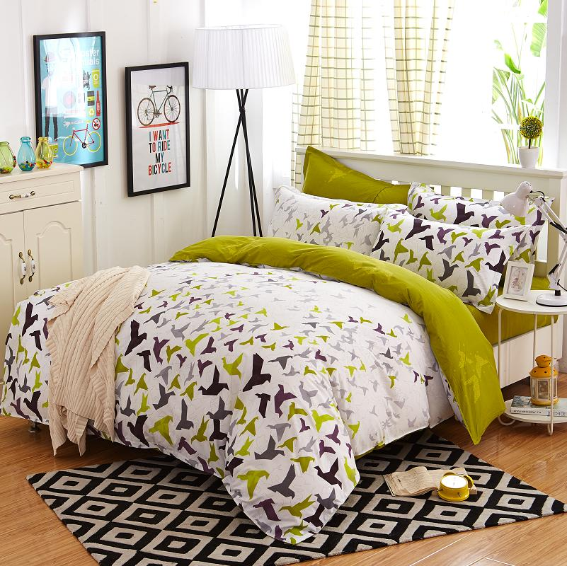 4pcs Bohemian Bedding Set Soft Polyester Bed Linen Duvet Cover