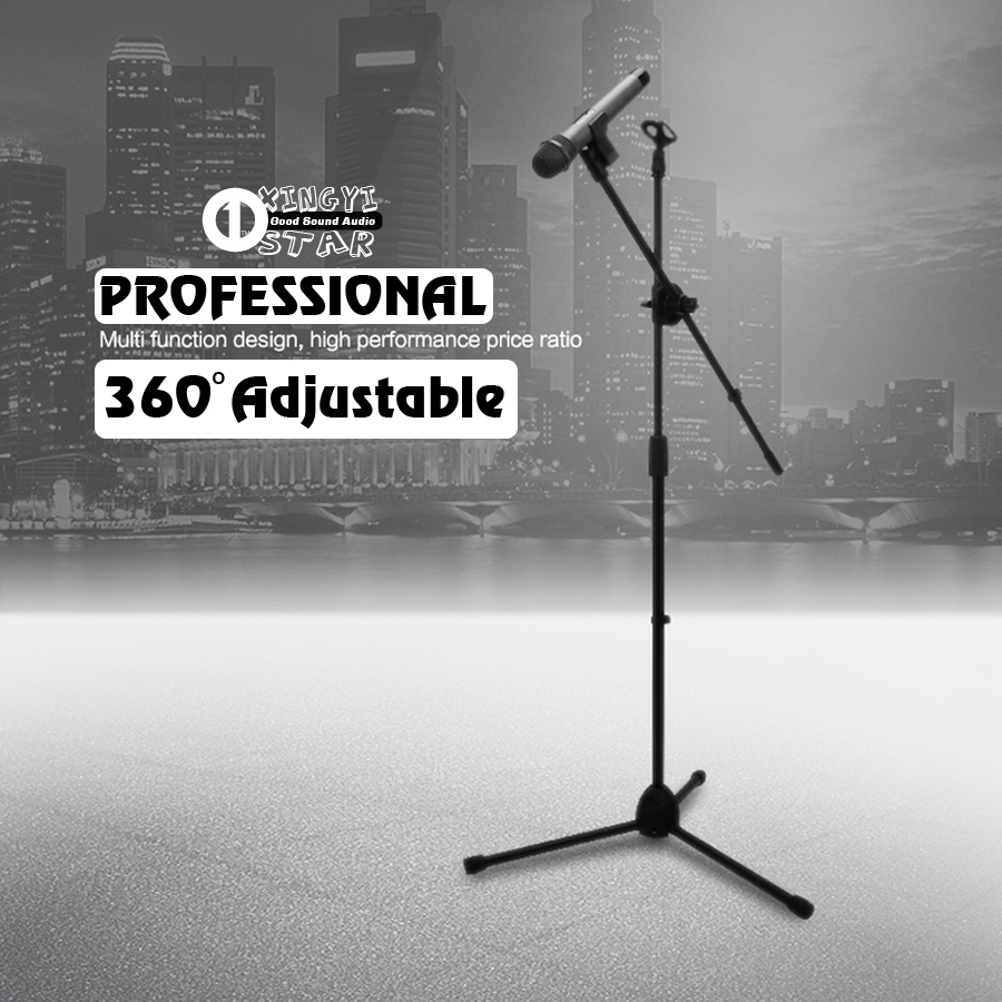 Professional Adjustable Wired Dynamic Studio Recording Mic Holder Clip Clamp For Karaoke Wireless Microphone Stand Floor Tripod  professional switch dynamic wired microphone stand metal desktop holder for beta 58 bt 58a ktv karaoke mic microfone audio mixer