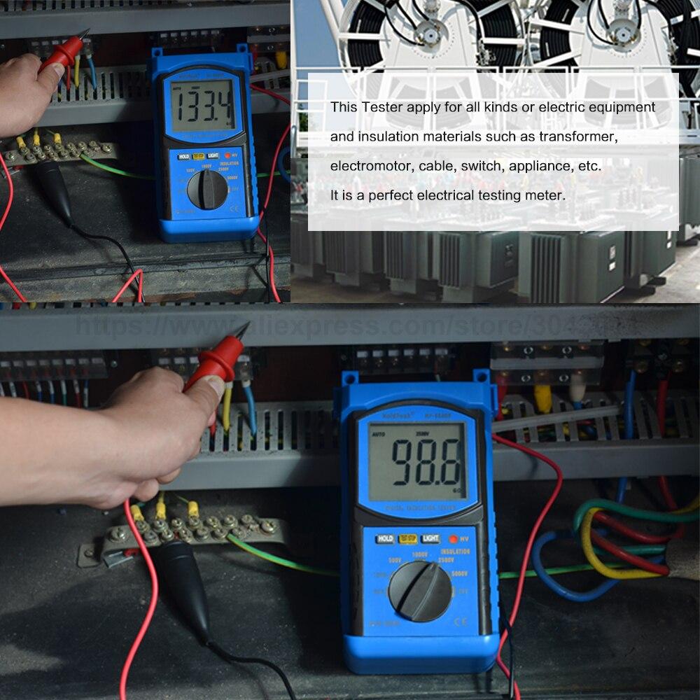 Купить с кэшбэком HoldPeak 6688F Digita Insulation Resistance Tester Resistance Meters 250V/500V/1000V/2500V Megger Megohmmeter Voltmeter