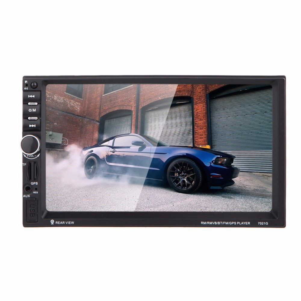 7 Inch 2Din HD Car Radio MP5 Player Digital Touch Screen Bluetooth Handsfree USB/TF/FM DVR/Aux Input Support Car Charge GPS 7021g 2 din car multimedia player with gps navigation 7 hd bluetooth stereo radio fm mp3 mp5 usb touch screen auto electronics
