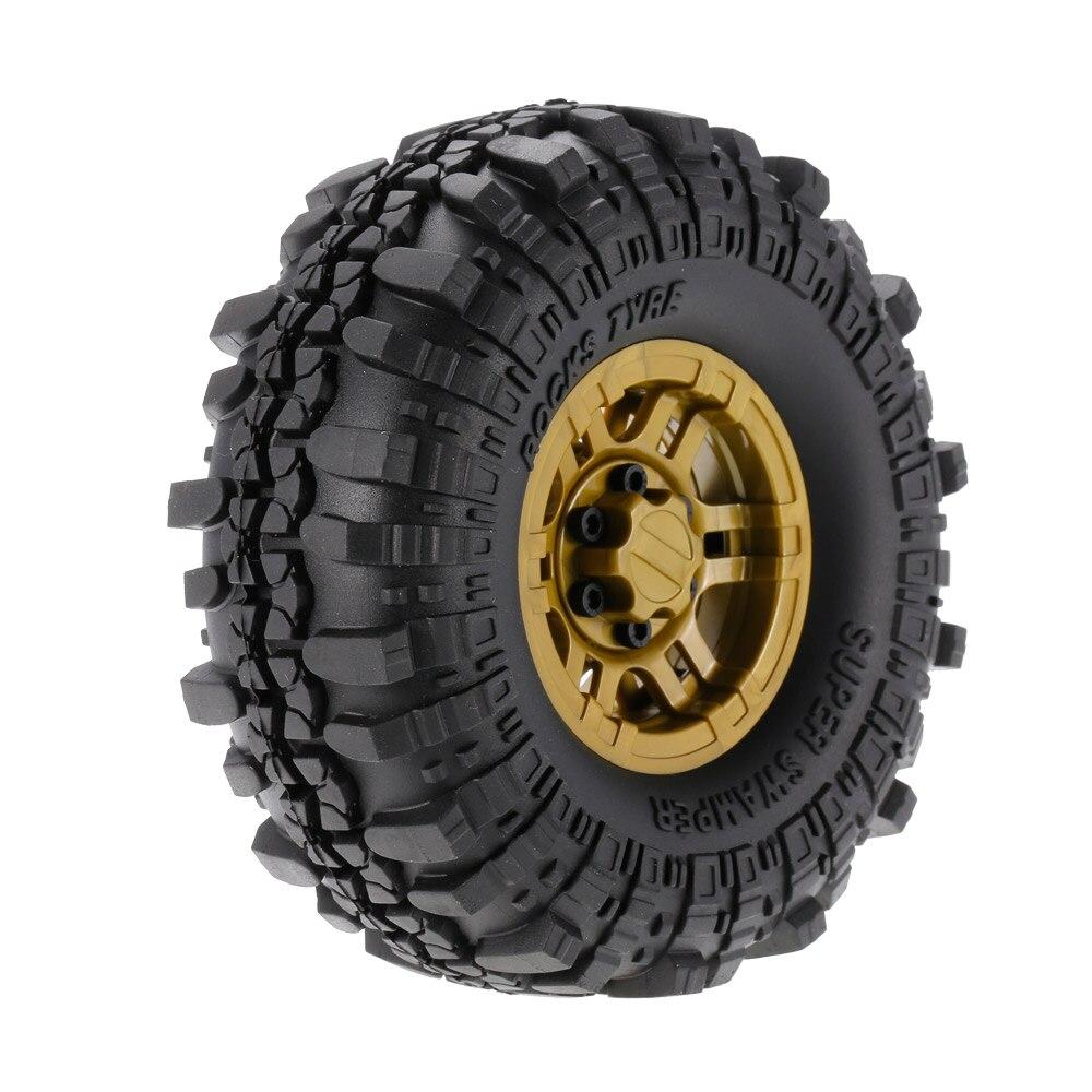 4pcs AUSTAR RC Car AX-4020F 1.9 Inch 110mm Rock Crawler Tires With Solid Beadlock Wheel Rim For 1/10 Traxxas AXIAL RC4WD TF2