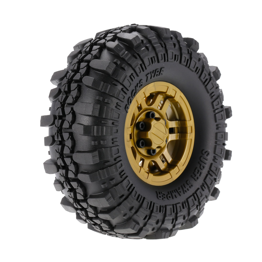 4pcs AUSTAR RC Car AX-4020F 1.9 inch 110mm Rock Crawler Tires with Solid Beadlock Wheel Rim for 1/10 Traxxas AXIAL RC4WD TF2 4pcs d1rc 1 10 super grip rc crawler car 3 2 inch rc thick wheel tires with sponge for 1 10 rc crawler