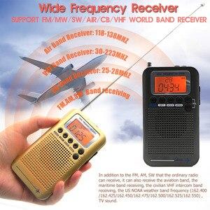 Image 2 - Aircraft FullBand VHF Radio Portable FM AM SW Radio VHF CB 30 223MHZ 25 28MHZ Air 118 138MHZ with Dual Alarm Clock