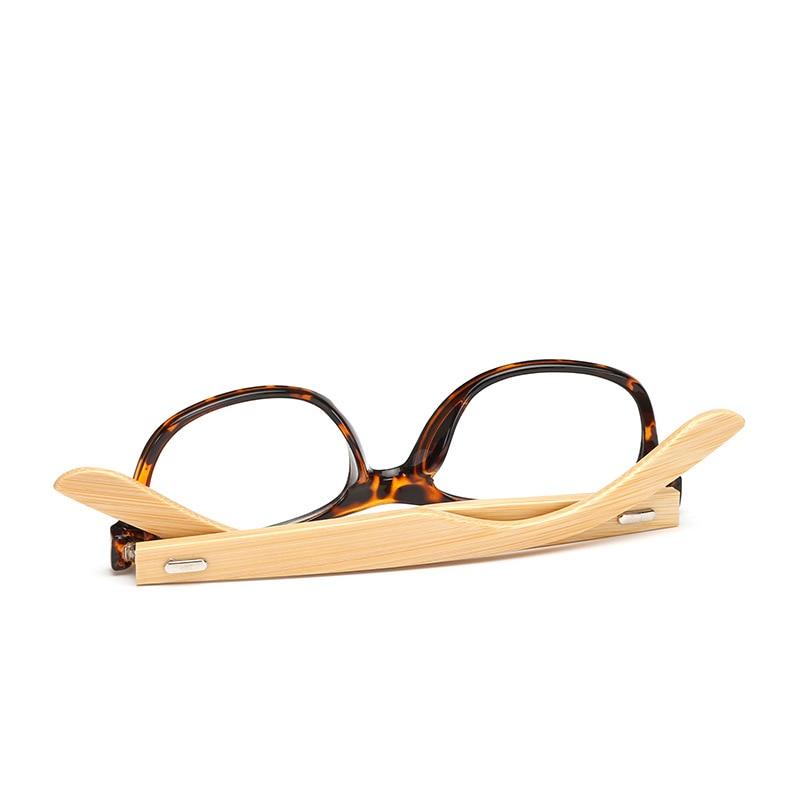 LVVKEE merek Kayu Bingkai wanita Mens datar cermin kacamata Baca - Aksesori pakaian - Foto 3