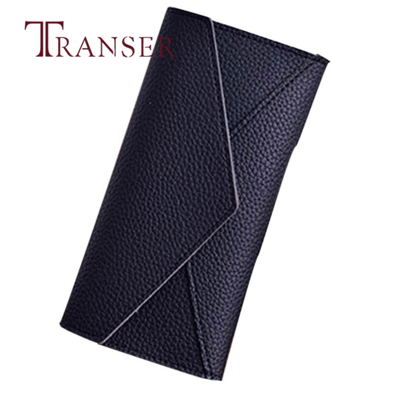 TRANSER Ladies Leather Long Hasp High Quality Women Daily Use Clutches High Quality Clutch Purse Fashion Wallet Coin Card Aug21
