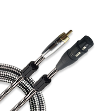 High Quality Female XLR to RCA Male Shielded Audio Cable For Subwoofer Mixer Amplifier Microphone Speaker AV CABLE 1M 2M 3M