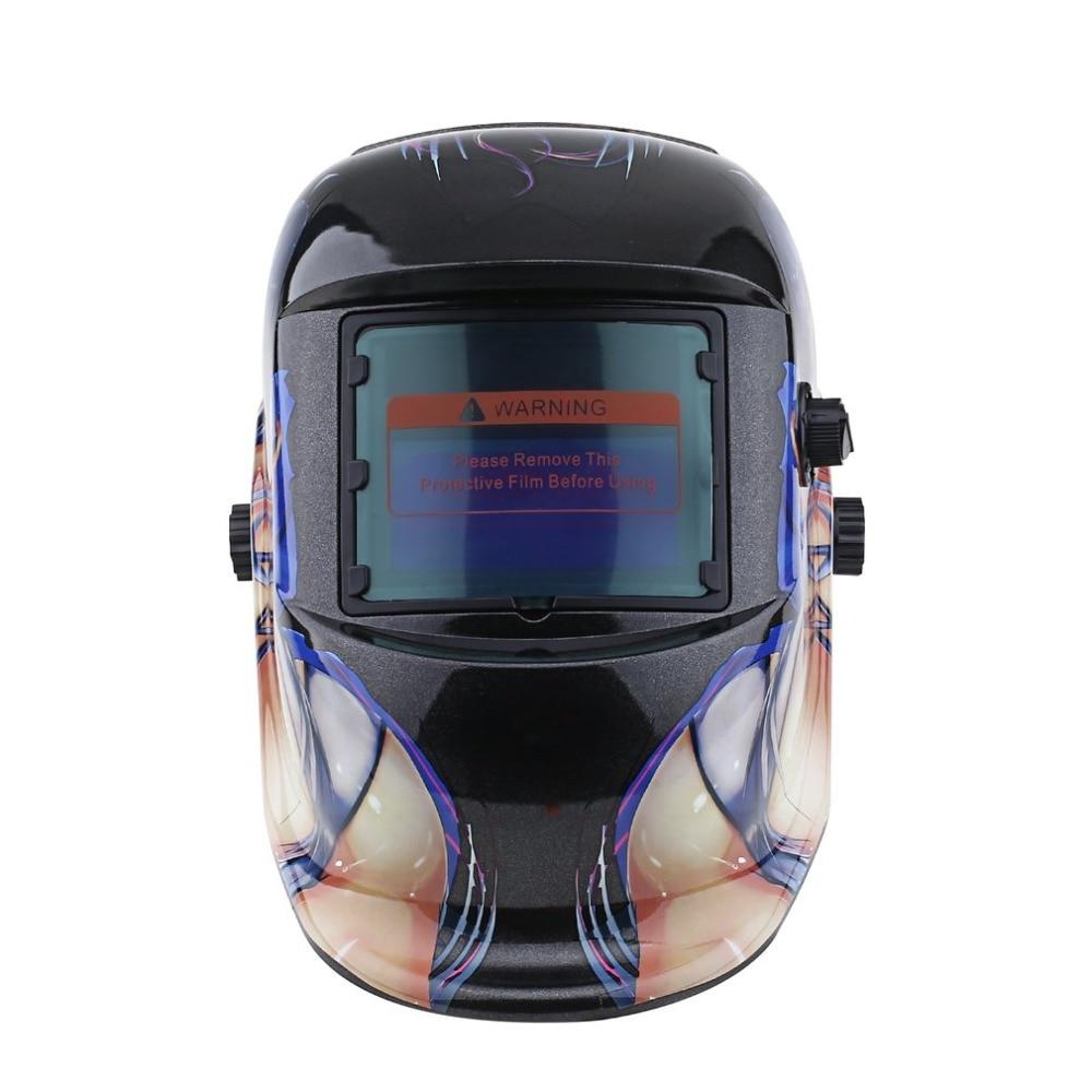 цена на Solar Energy Automatic Light Changing Electric Welding Mask Auto Darken/Shading Grinding Welding adjustable Goggle/Cap/Helmet