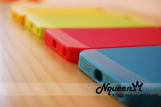 Dull polished bright color cell phone case for Apple IPhone5 (4 color in)