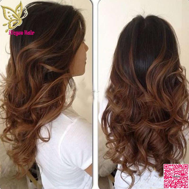 Wavy Ombre Lace Front Wig Human Hair Virgin Peruvian