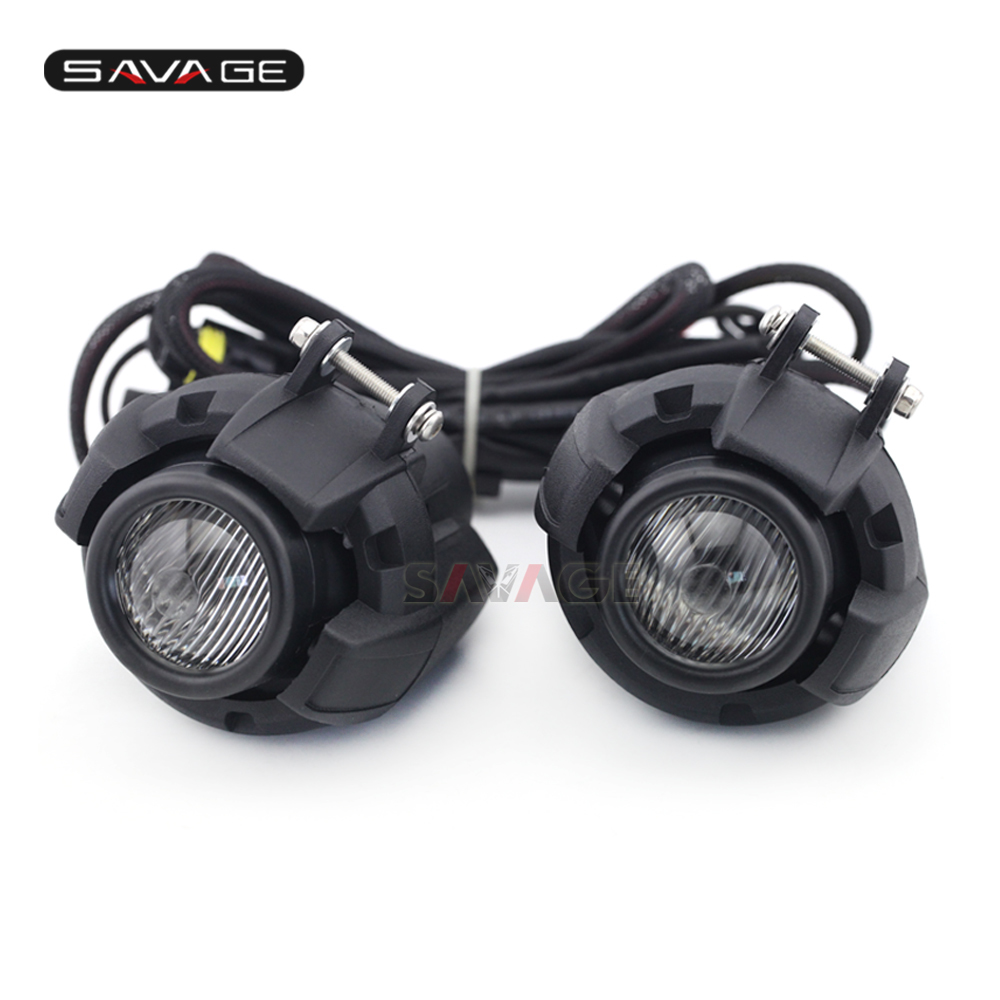 Front Head Light Driving Aux Lights Fog Lamp Assembly For BMW R1200GS LC/ADV F800 F750 F650 R1150 GS Motorcycle Accessories стоимость