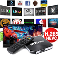MX Pro Android TV Box Quad Core 8G Smart Fully Loaded Network Streamer UK Plug AH011